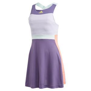 Women`s HEAT.RDY Tennis Dress Tech Purple and Shock Yellow