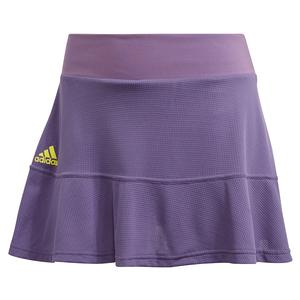Women`s HEAT.RDY 13 Inch Tennis Skort Tech Purple and Shock Yellow