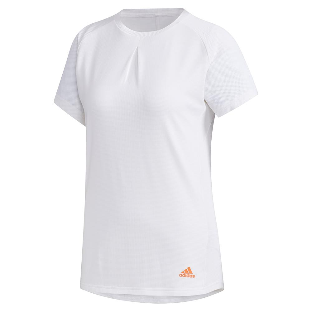 Women's Heat.Rdy Color Block Tennis Top White