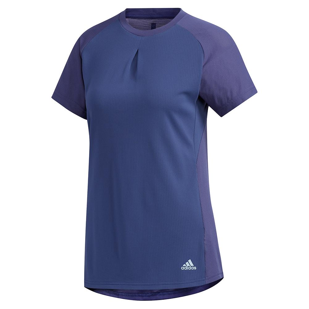 Women's Heat.Rdy Color Block Tennis Top Tech Indigo
