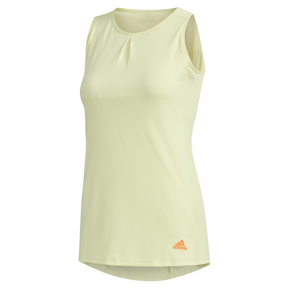 Women's Heat.Rdy Color Block Tennis Tank Yellow Tint