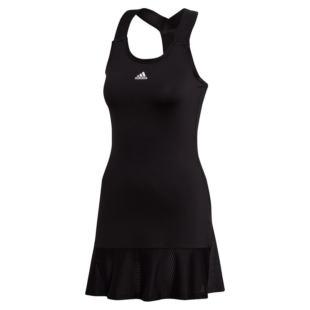 Women's Game Set Y- Back Tennis Dress Black