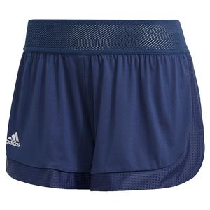 Women`s Game Set Match 2in1 Tennis Short Tech Indigo
