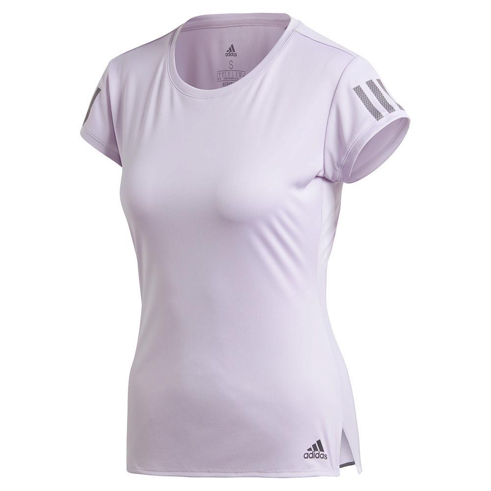 Women's Club 3 Stripe Tennis Top Purple Tint And Grey Six