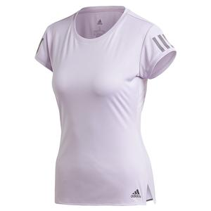 Women`s Club 3 Stripe Tennis Top Purple Tint and Grey Six