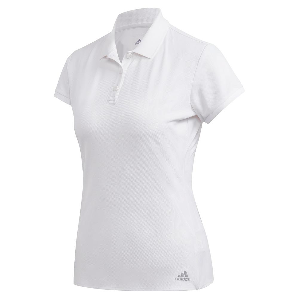 Women's Club Tennis Polo White And Matte Silver