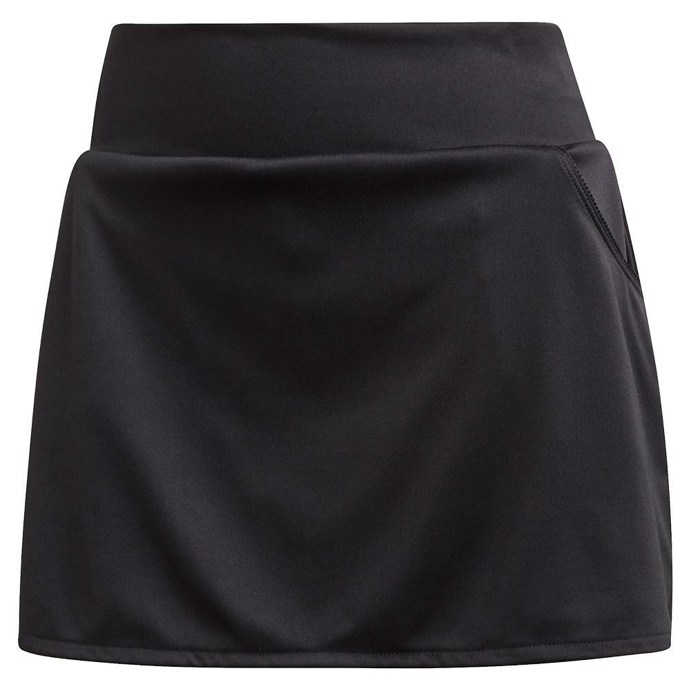 Women's Club Tennis Skort Black And Matte Silver