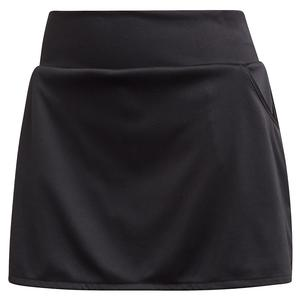 Women`s Club Tennis Skort Black and Matte Silver