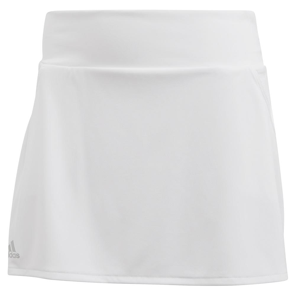 Women's Club Tennis Skort White And Matte Silver