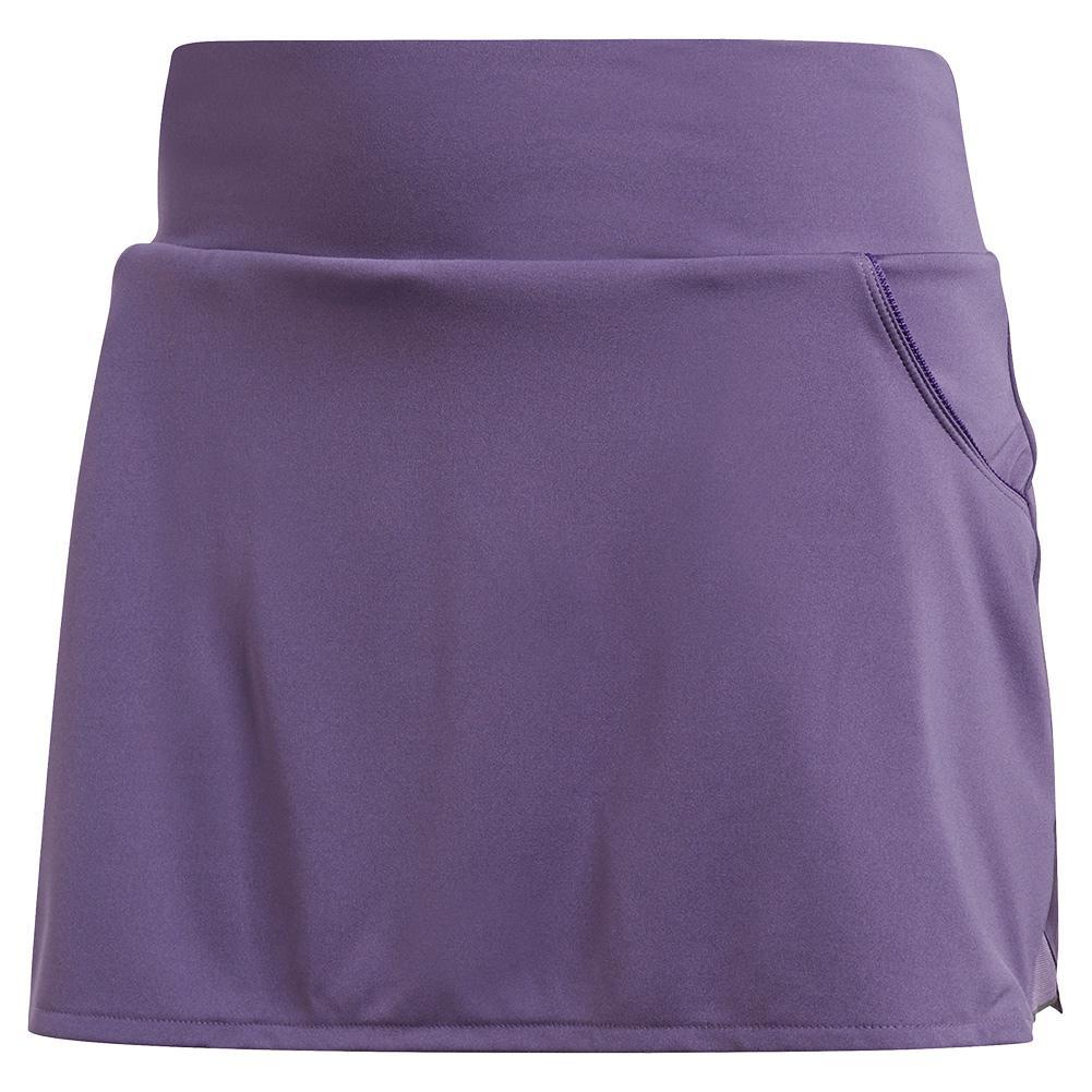 Women's Club Tennis Skort Tech Purple And Matte Silver