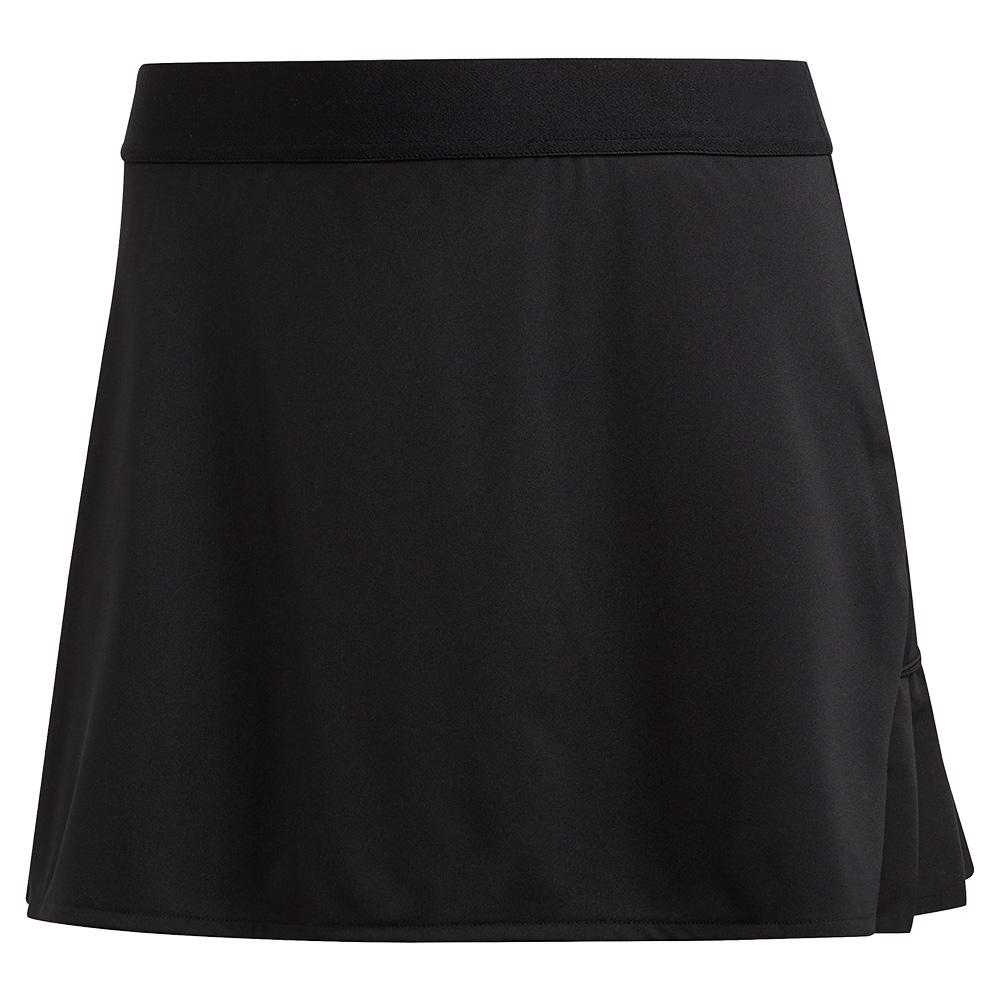 Women's Club 15 Inch Tennis Skort Black And Matte Silver
