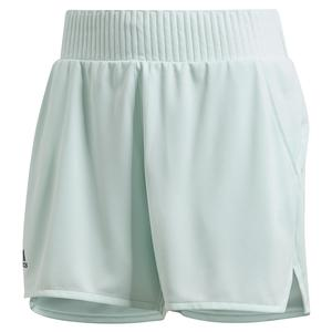 Women`s Club 4 Inch Tennis Short Dash Green and Grey Six