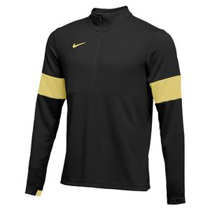 Men`s Half Zip Therma Top Black and Team Gold