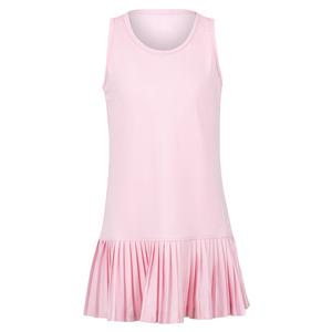 Girls` Knife Pleated Tennis Dress Pink