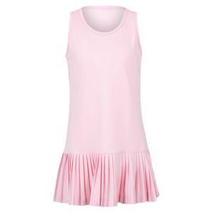 Girls` Knife Pleated Tennis Dress Pink