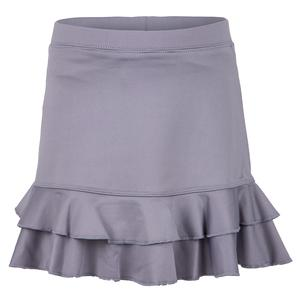 Girls` Double Ruffle Tennis Skort Grey