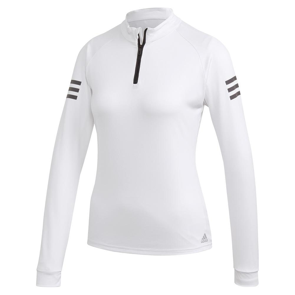 Women's Club Tennis Midlayer White And Matte Silver