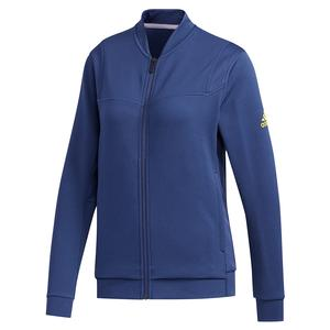 Women`s Club Knit Tennis Jacket Tech Indigo