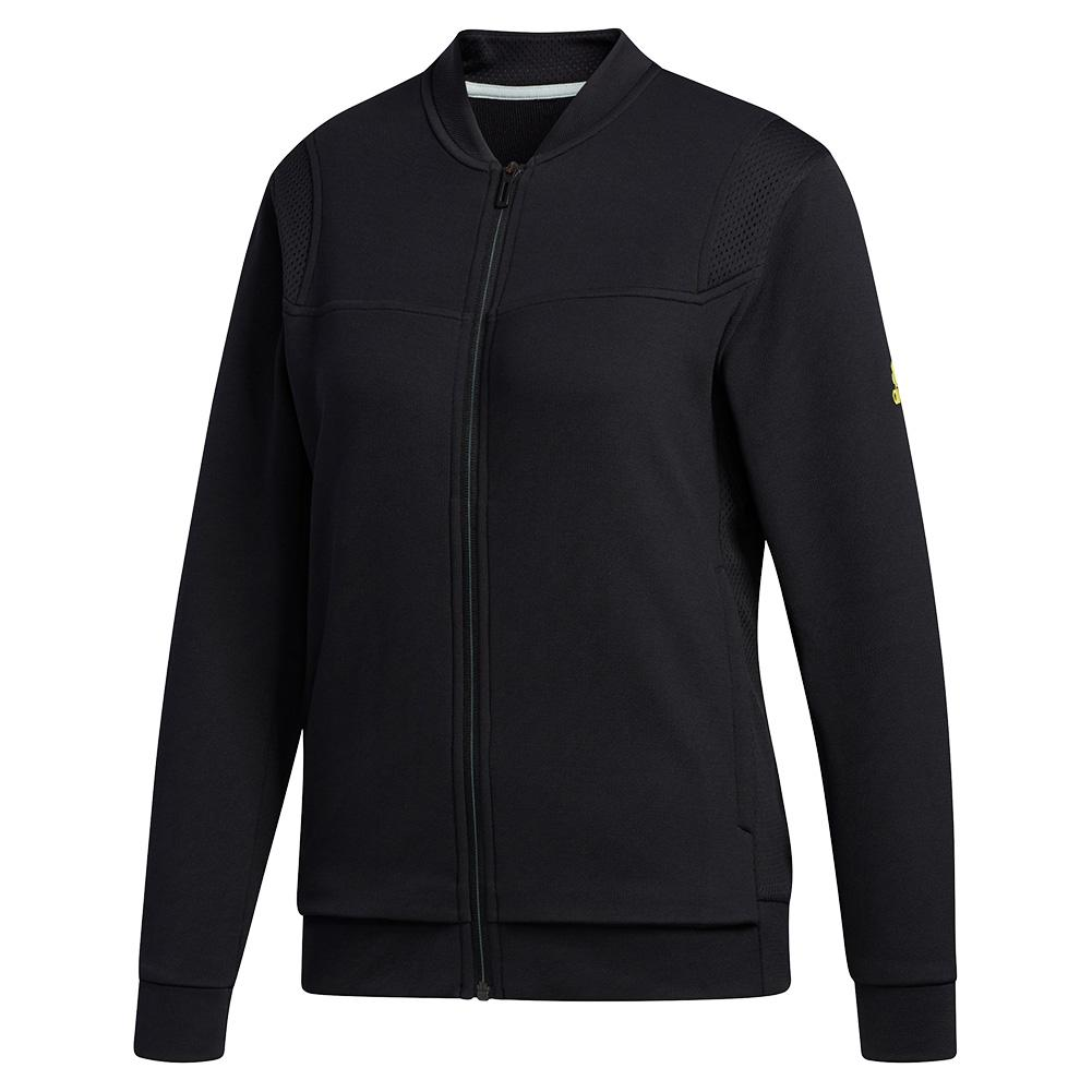 Women's Club Knit Tennis Jacket Black