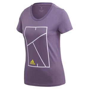 Women`s Club Court Tennis Tee Tech Purple