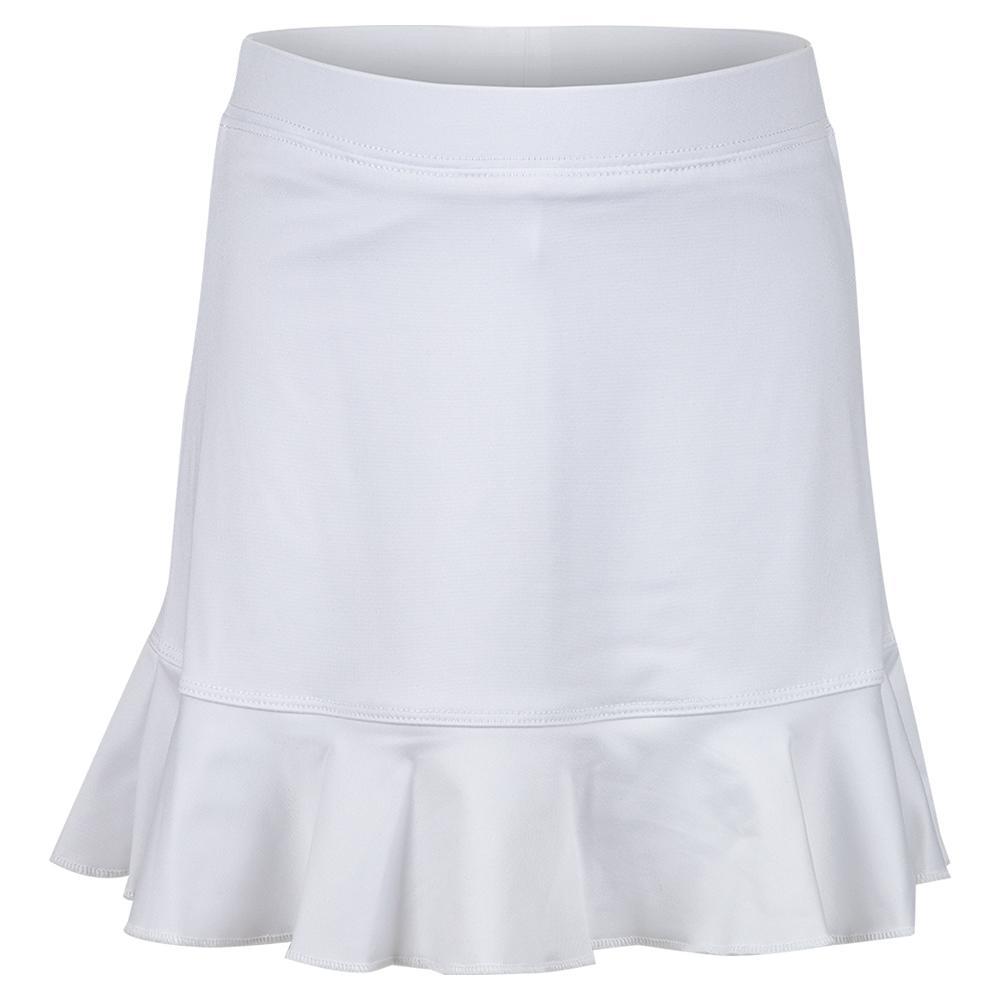 Girls'single Ruffle Tennis Skort White