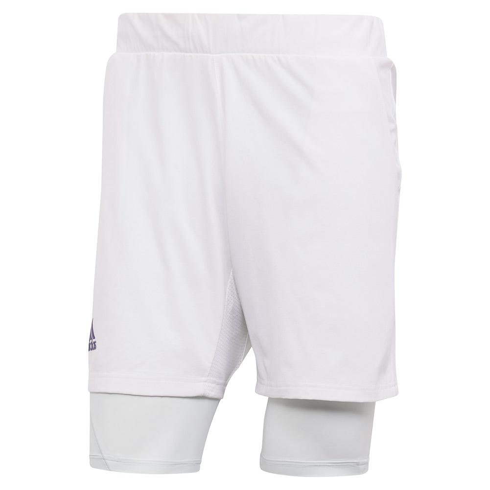 Men's Heat.Rdy 2in1 7 Inch Tennis Short White And Tech Indigo
