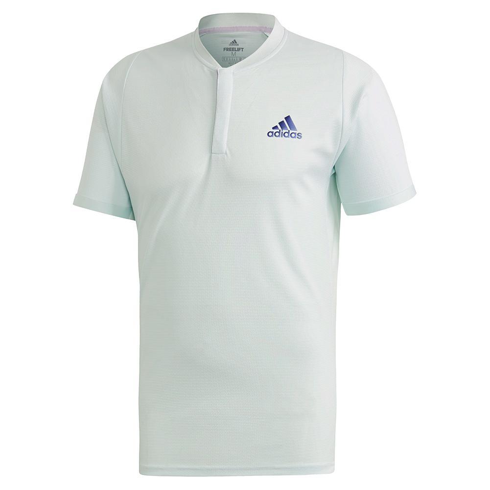 Men's Heat.Rdy Freelift Tennis Polo Dash Green And Tech Indigo