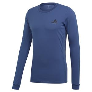 Men`s HEAT.RDY FreeLift Tennis Long Sleeve Tech Indigo and Night Metallic