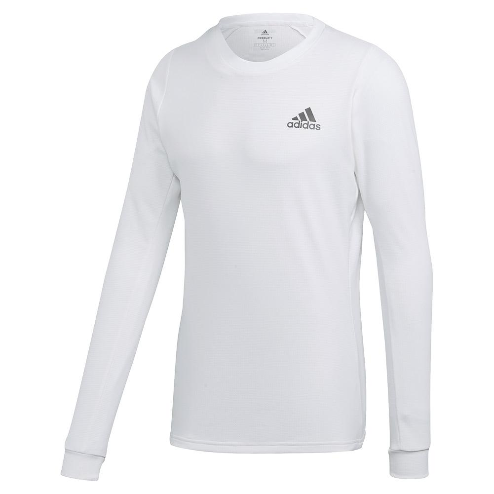 Men's Heat.Rdy Freelift Tennis Long Sleeve White And Night Metallic