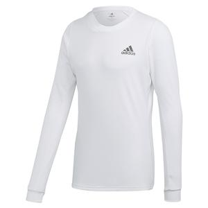 Men`s HEAT.RDY FreeLift Tennis Long Sleeve White and Night Metallic