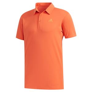 Men`s HEAT.RDY Color Block Tennis Polo Glory Amber