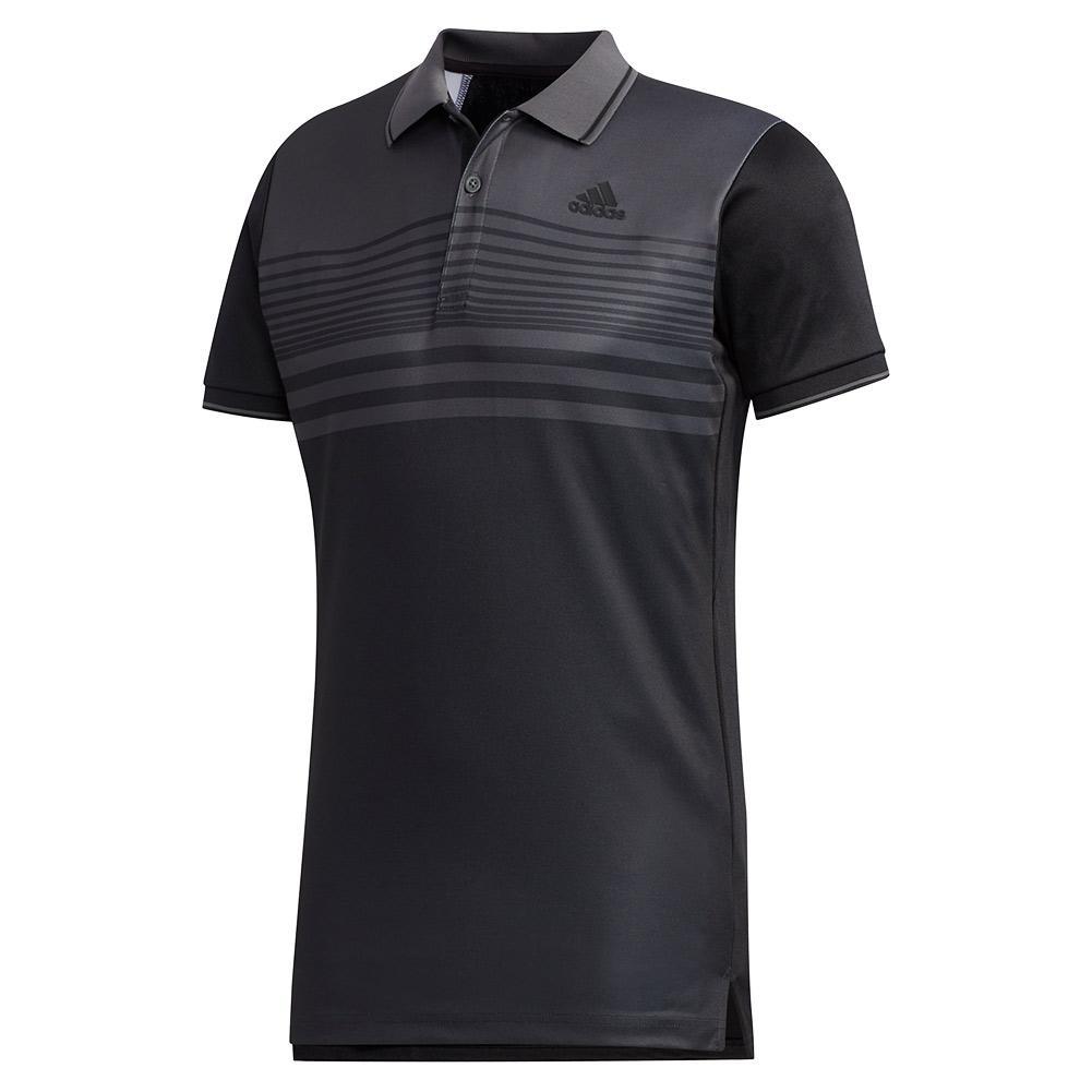 Men's Heat.Rdy Pique Tennis Polo Black And Grey Six