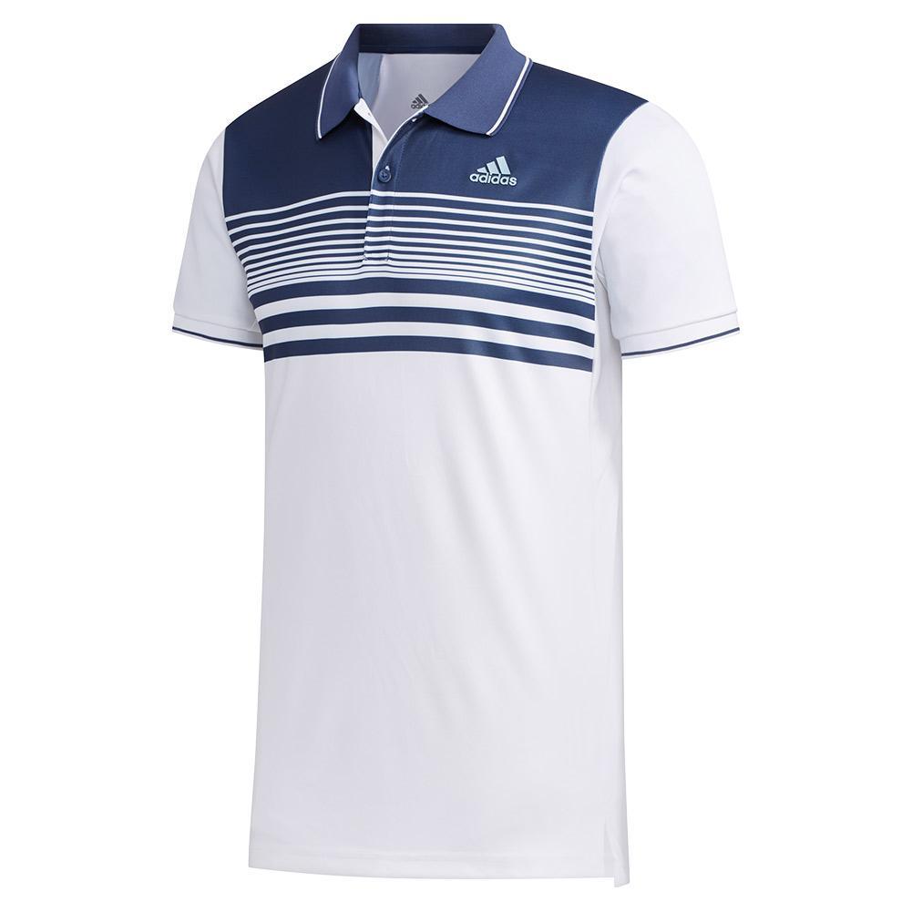Men's Heat.Rdy Pique Tennis Polo White And Tech Indigo