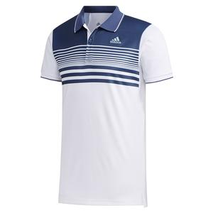 Men`s HEAT.RDY Pique Tennis Polo White and Tech Indigo
