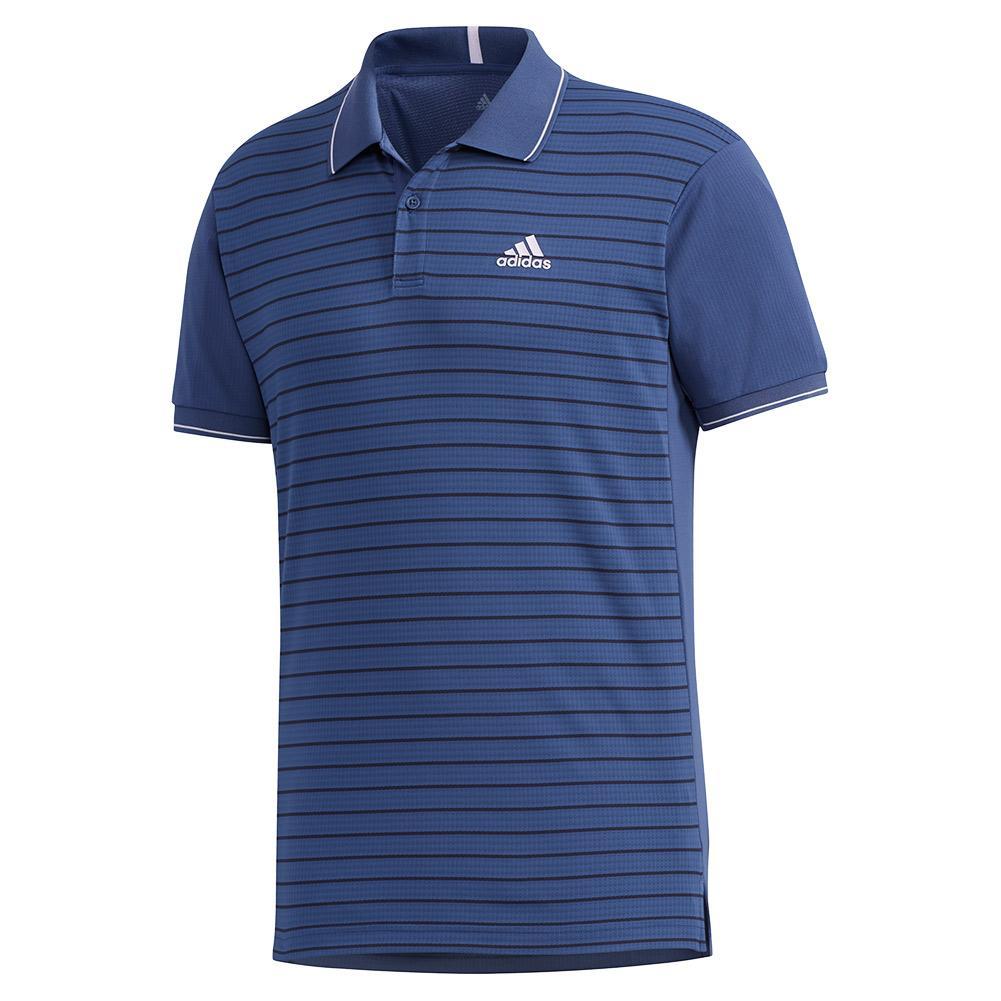 Men's Heat.Rdy Color Block Striped Tennis Polo Tech Indigo