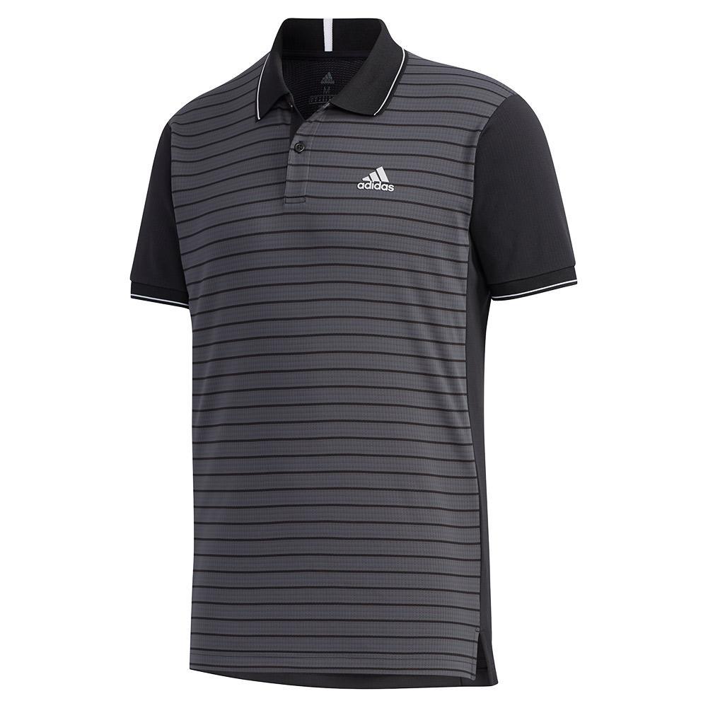 Men's Heat.Rdy Color Block Striped Tennis Polo Black
