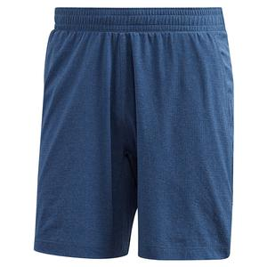 Men`s HEAT.RDY Ergo Melange 9 Inch Tennis Short Tech Indigo