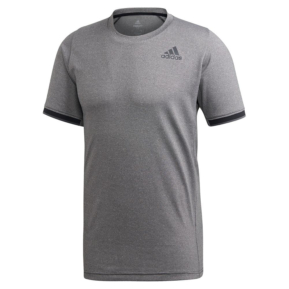 Men's Game Set Freelift Tennis Top Black Melange