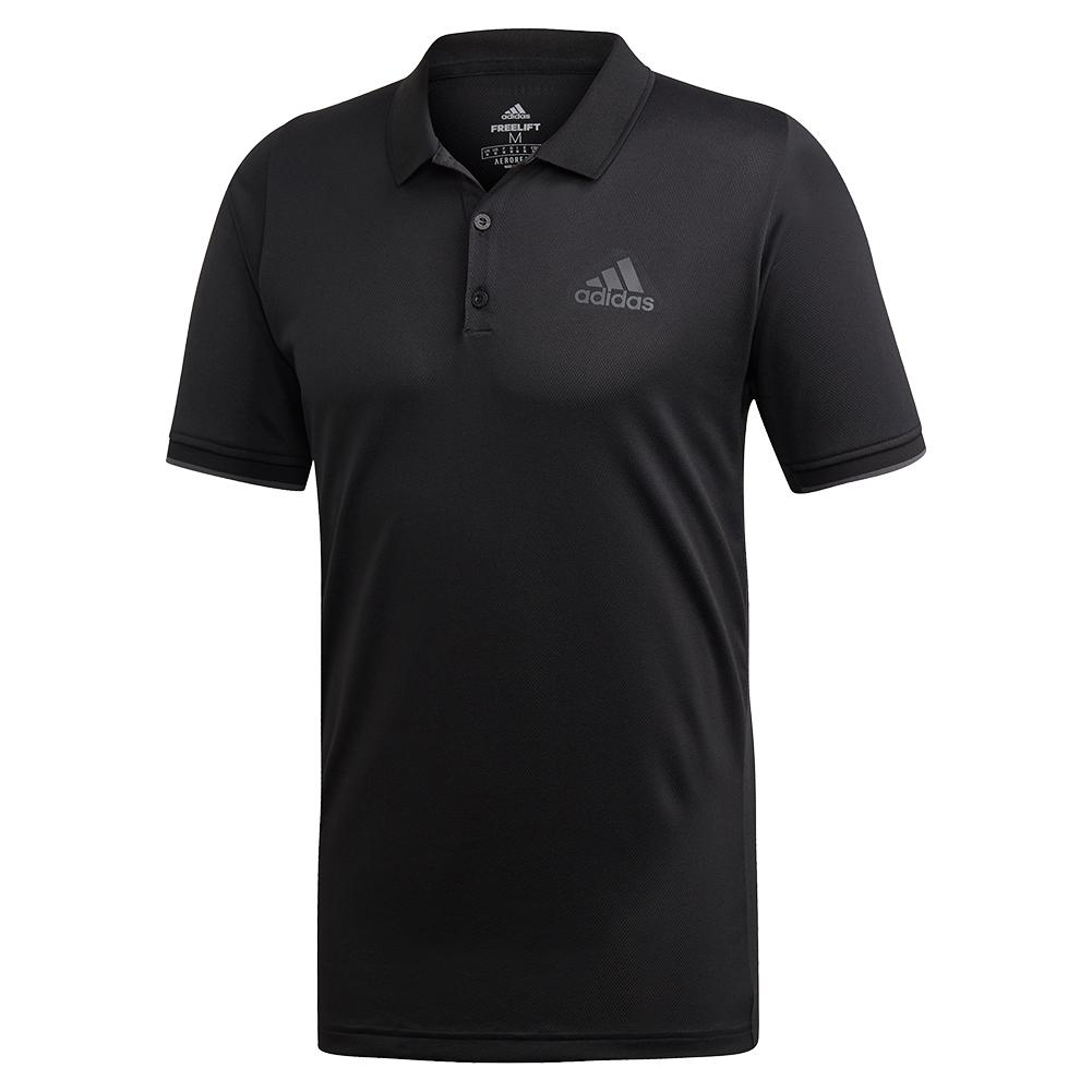 Men's Game Set Freelift Tennis Polo Black