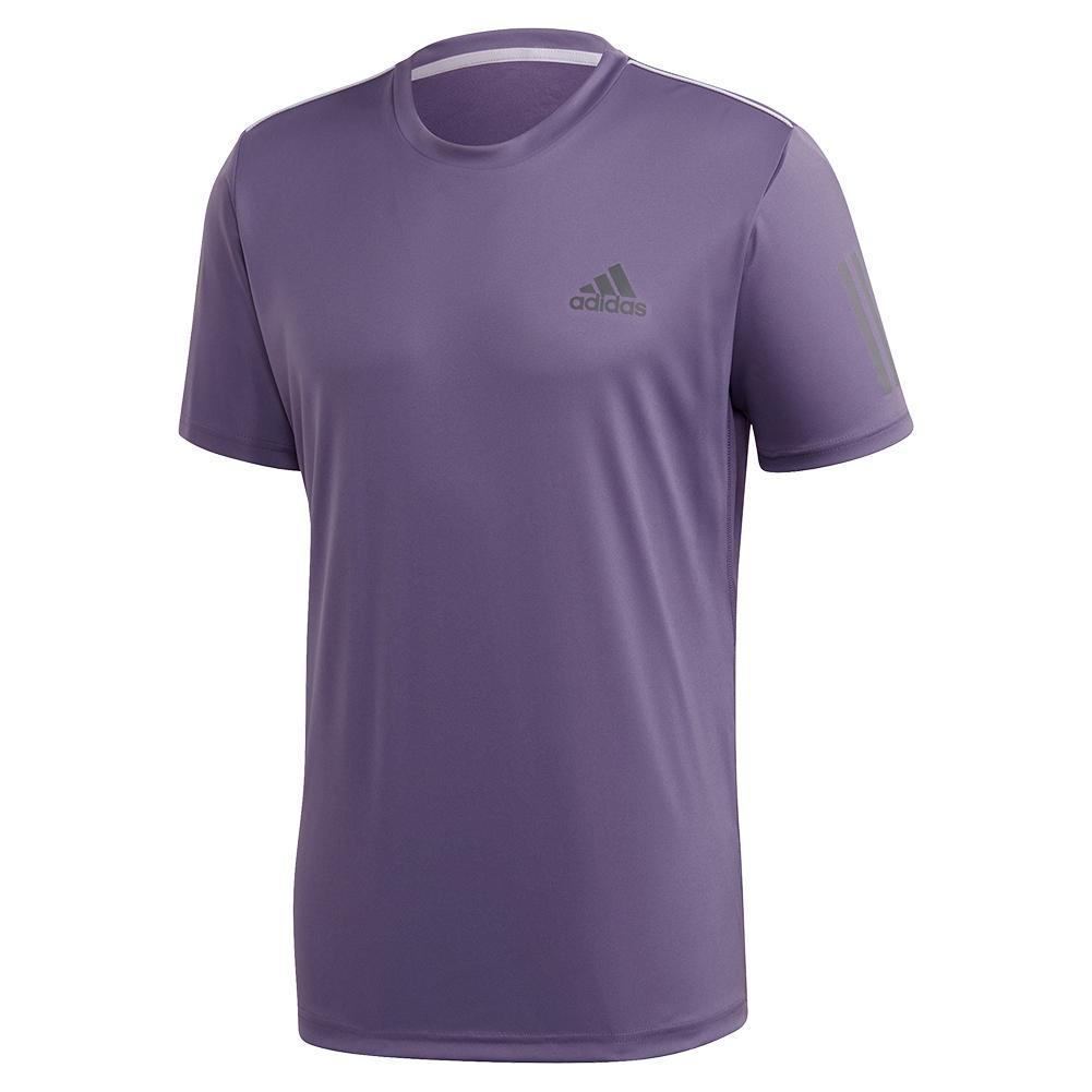Men's Club 3 Stripes Tennis Top Tech Purple And Grey Six