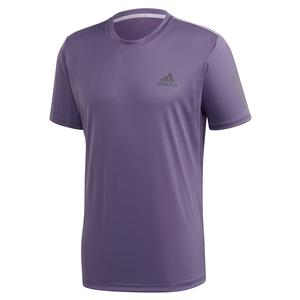 Men`s Club 3 Stripes Tennis Top Tech Purple and Grey Six