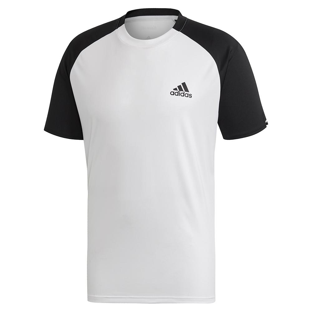 Men's Club Color Block Tennis Top White And Black