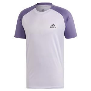 Men`s Club Color Block Tennis Top Purple Tint and Tech