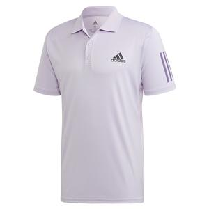 Men`s Club 3 Stripes Tennis Polo Purple Tint and Grey Six