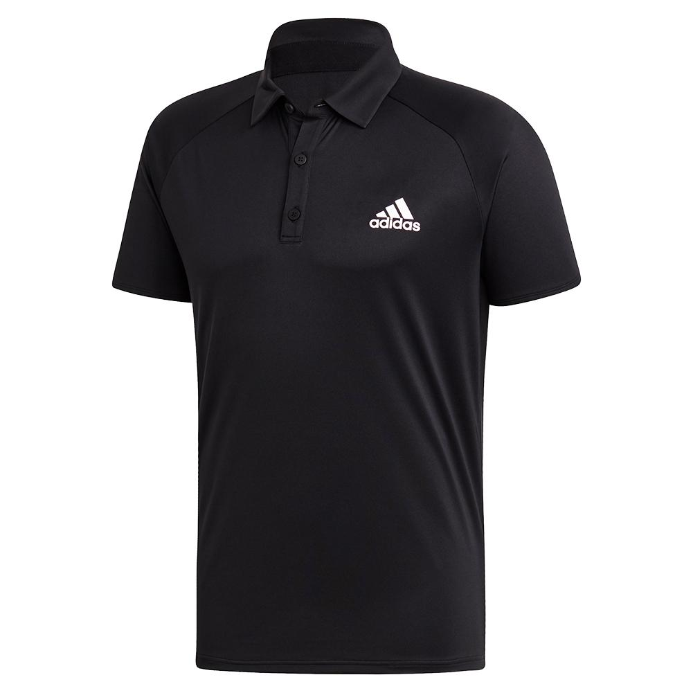Men's Club Color Block Tennis Polo Black And White