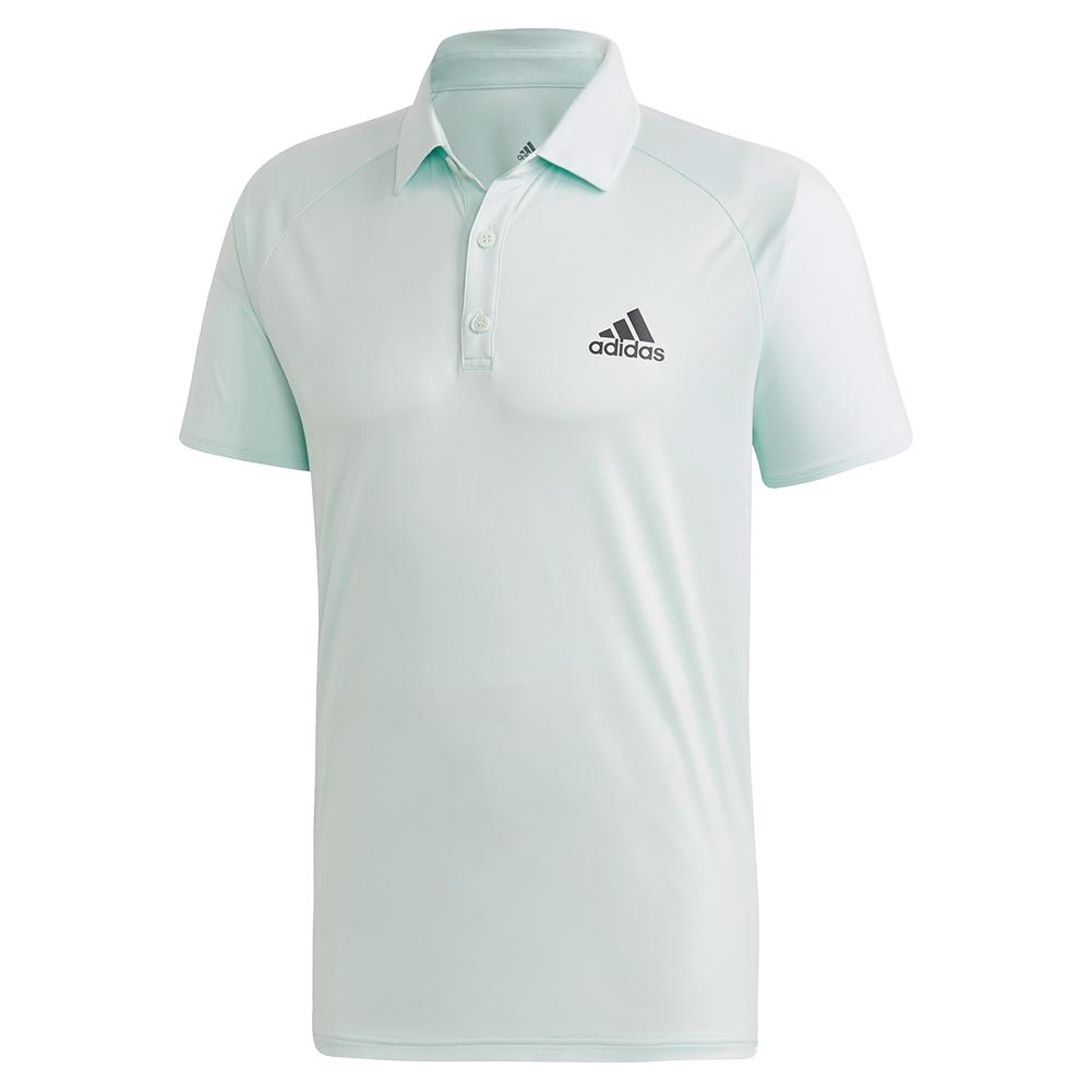 Men's Club Color Block Tennis Polo Dash Green And Grey Six