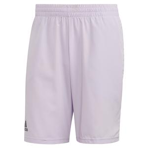 Men`s Club 9 Inch Tennis Short Purple Tint and Grey Six
