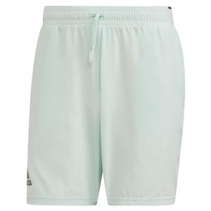 Men`s Club Stretch Woven 7 Inch Tennis Short Dash Green and Grey Six