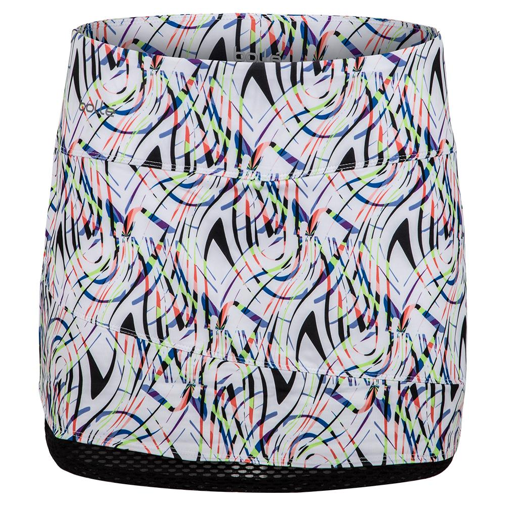 Women's Brush Strokes Tennis Skort Print