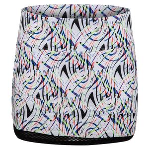 Women`s Brush Strokes Tennis Skort Print